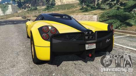 Pagani Huayra 2013 v1.1 [yellow rims] для GTA 5