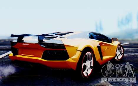 Lamborghini Aventador Mansory Carbonado Color для GTA San Andreas вид слева