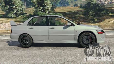 Mitsubishi Lancer Evolution VIII MR для GTA 5 вид слева