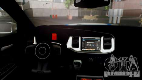 Dodge Charger SRT8 2015 Police Malaysia для GTA San Andreas вид справа
