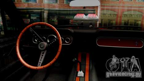 Ford Mustang 1966 Chrome Edition v2 Monster для GTA San Andreas вид изнутри