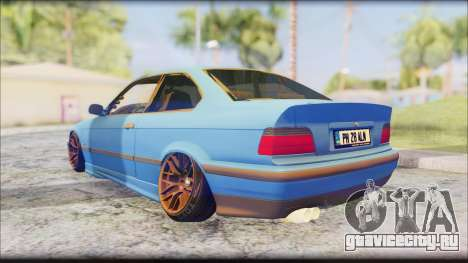 BMW M3 E36 Stanced-Hella для GTA San Andreas вид сзади слева