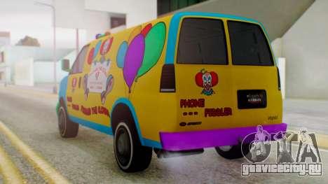 GTA 5 Vapid Clown Van для GTA San Andreas вид слева