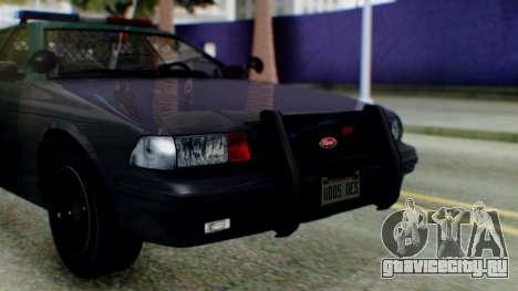 GTA 5 Vapid Stanier II Police IVF для GTA San Andreas вид справа