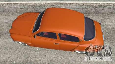 Saab 96 для GTA 5 вид сзади
