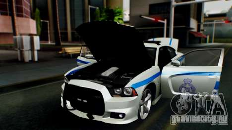 Dodge Charger SRT8 2015 Police Malaysia для GTA San Andreas вид сзади