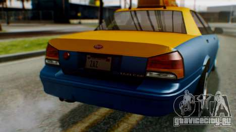 Vapid Taxi для GTA San Andreas вид сбоку