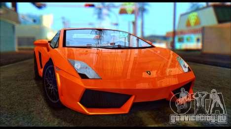 Lamborghini Gallardo LP560 PJ для GTA San Andreas вид слева