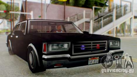 Unmarked Police Cutscene Car Stance для GTA San Andreas вид сзади слева