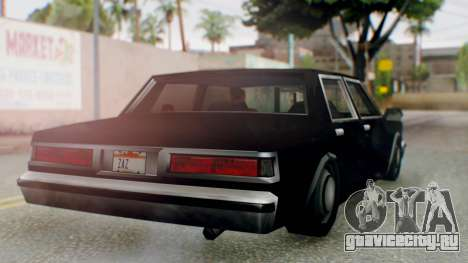 Unmarked Police Cutscene Car Stance для GTA San Andreas вид справа