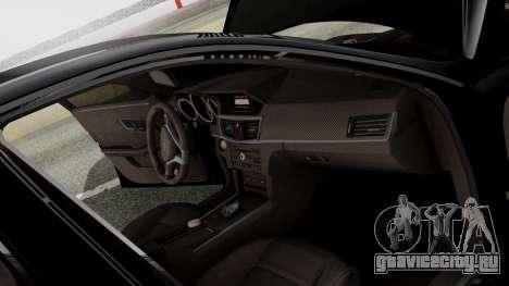 Mercedes-Benz E63 AMG PML Edition для GTA San Andreas вид снизу