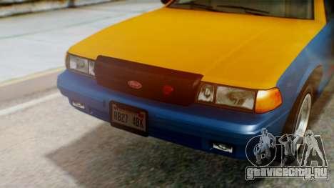 Vapid Taxi with Livery для GTA San Andreas вид сзади