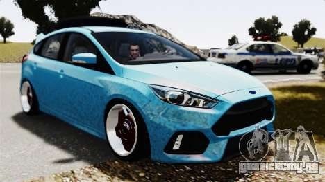 Ford Focus RS 2017 Camber для GTA 4 вид справа