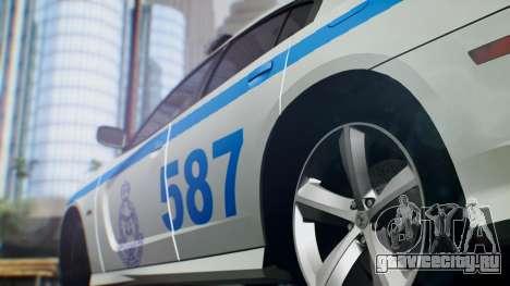 Dodge Charger SRT8 2015 Police Malaysia для GTA San Andreas вид сзади слева