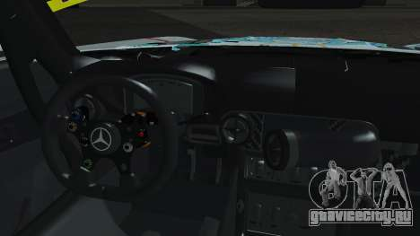 Mercedes-Benz SLS AMG GT3 2015 Hatsune Miku для GTA San Andreas вид изнутри