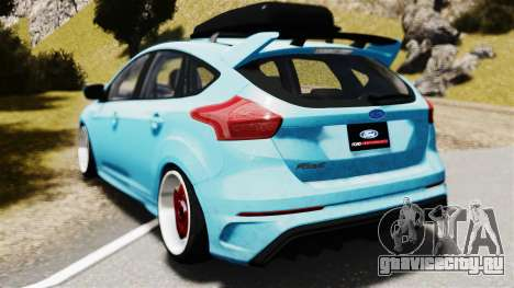 Ford Focus RS 2017 Camber для GTA 4 вид слева