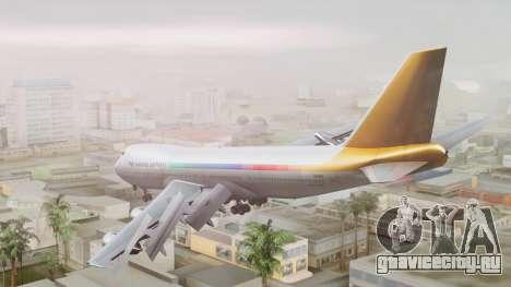 Boeing 747-100 The Hawaii Express Jason Everest для GTA San Andreas вид слева