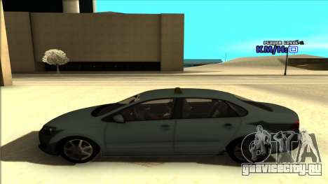 Volkswagen Polo для GTA San Andreas вид изнутри