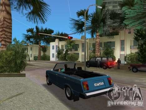 ВАЗ 21047 Кабриолет для GTA Vice City вид сзади слева