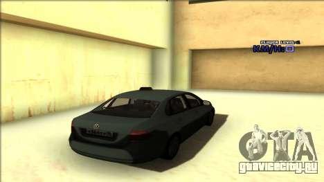 Volkswagen Polo для GTA San Andreas вид сверху