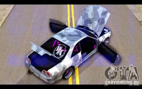 Nissan Skyline R33 Drift для GTA San Andreas вид снизу