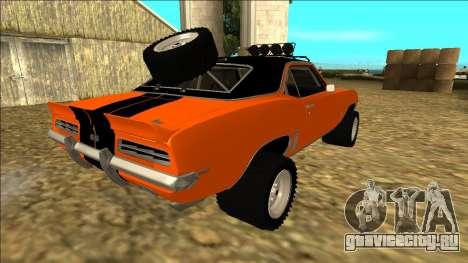 Chevrolet Camaro SS Rusty Rebel для GTA San Andreas колёса