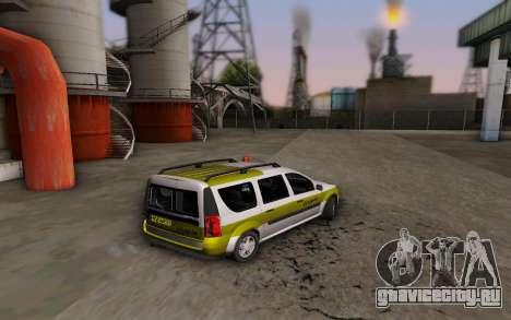 Dacia Logan Emdad Khodro для GTA San Andreas вид слева