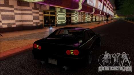 Elegy HellCat для GTA San Andreas вид изнутри