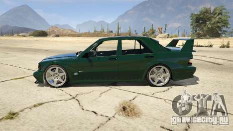 Mercedes-Benz 190E Evolution v1.1 для GTA 5 вид слева