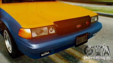 Vapid Taxi для GTA San Andreas вид сзади