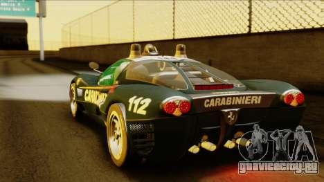 Ferrari P7 Carabinieri для GTA San Andreas вид слева