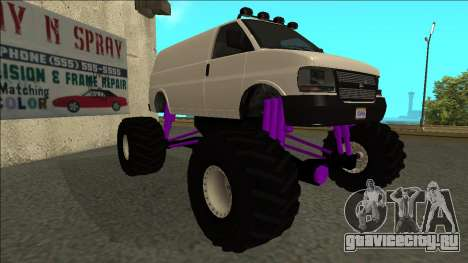 GTA 5 Vapid Speedo Monster Truck для GTA San Andreas вид слева