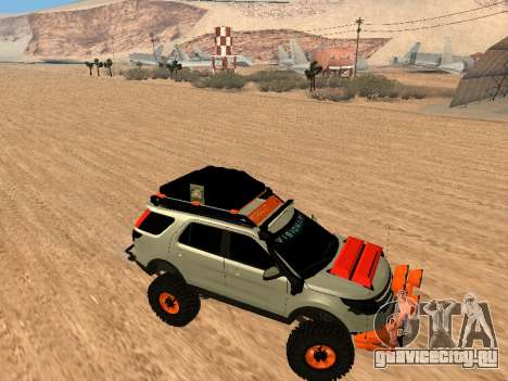 Ford Explorer 2013 Off Road для GTA San Andreas вид сзади