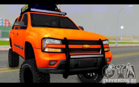 Chevrolet Traiblazer Off-Road для GTA San Andreas вид сзади
