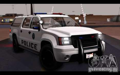 GTA 5 Declasse Sheriff Granger IVF для GTA San Andreas салон