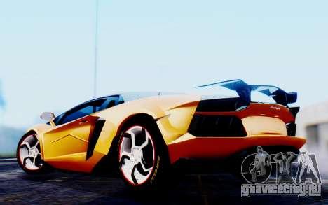 Lamborghini Aventador Mansory Carbonado Color для GTA San Andreas вид сзади слева