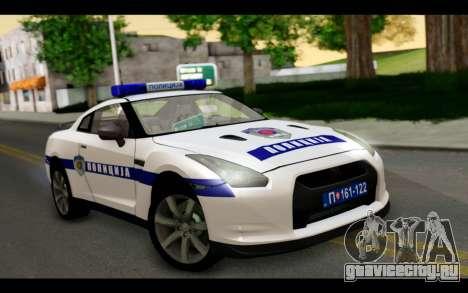 Nissan GT-R Policija для GTA San Andreas