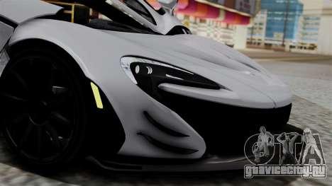McLaren P1 GTR-VS 2013 для GTA San Andreas вид сзади