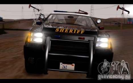 GTA 5 Declasse Sheriff Granger IVF для GTA San Andreas вид изнутри