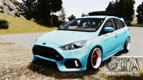 Ford Focus RS 2017 Camber для GTA 4