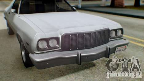 Ford Gran Torino 1974 IVF для GTA San Andreas вид снизу