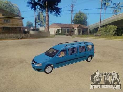 Lada Largus 7-door для GTA San Andreas