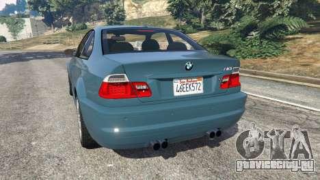 BMW M3 (E46) 2005 для GTA 5 вид сзади слева