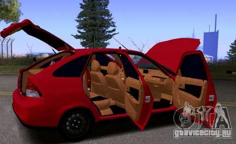 ВАЗ 2172 КВR для GTA San Andreas вид изнутри