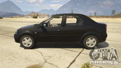 2008 Dacia Logan v2.0 FINAL для GTA 5 вид слева