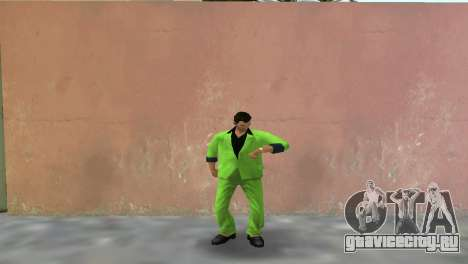 Зелёный костюм для Томми для GTA Vice City второй скриншот