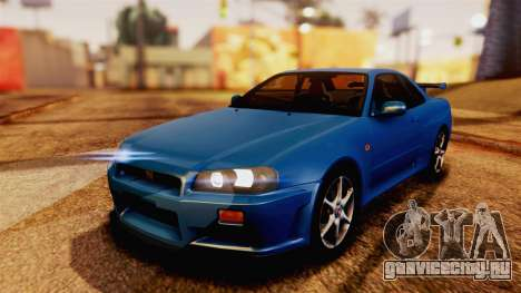 Nissan Skyline GT-R R34 V-spec 1999 для GTA San Andreas
