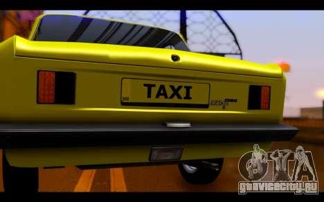 Zastava 125PZ Taxi для GTA San Andreas вид изнутри