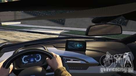 2015 BMW I8 для GTA 5 вид сзади справа