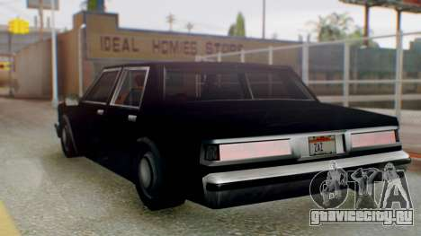Unmarked Police Cutscene Car Stance для GTA San Andreas вид слева
